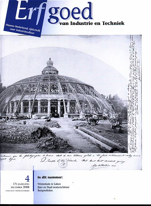 Erfgoed van industrie en techniek vlaams nederlands tijdschrift nr 2008 4 - Buisvormige constructie ...